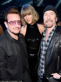 Bono, Taylor and The Edge