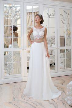 1defcdb72101 Nezvyčajné sexy moderné svadobné šaty s čipkovaným vrškom