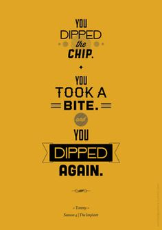 you double-dipped the chip!