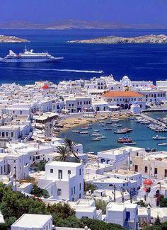 Isle of Mykonos, Greece. I can't wait to visit it!