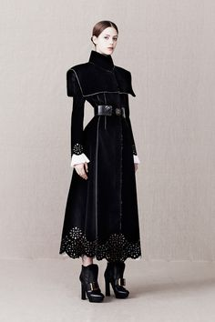 she rocks that dictatorial style | Alexander McQueen Pre-Fall 2013