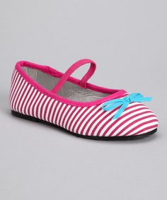 Take a look at this Chatties Fuchsia Stripe Ballet Flat by Chatties on #zulily today!