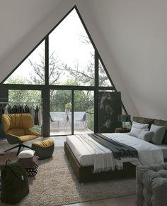 VrayWorld - Casa T Outdoor Furniture, Outdoor Decor, Loft, Cgi, Bedroom, Interiors, Design, Home Decor, Houses