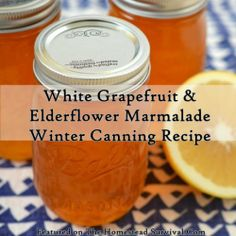 The Homestead Survival | White Grapefruit and Elderflower Marmalade    Winter Canning Recipe | http://thehomesteadsurvival.com