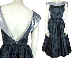 Vintage 1960s Dress 60's Dress Plunging Open by KayDoveVintage