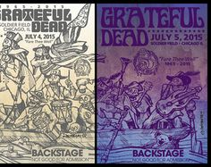 Fare Thee Well : Backstage pass poster sketches for the Grateful Dead - Large Posters - Edit Listing - Etsy