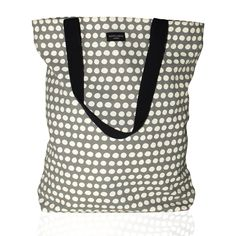 Aspegren-bag-dot-warm-gray Canvas bag www. Warm Grey, Hobo Bag, Polka Dot Top, Beige, Gray, Plads, Shopping, Canvas, Fashion