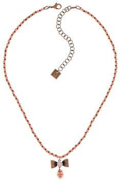 Konplott Halskette Pearl n Ribbons pink Schleife