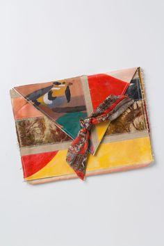 """- Tab closure - Cotton canvas, acrylic and oil paint - 8""""H, 12""""W, 1.5""""D - Imported"""