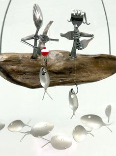 Fishing Couple Wind Chime by nevastarr on Etsy