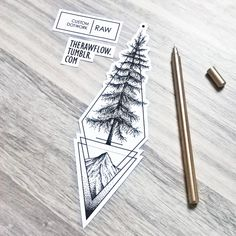 """custom dotwork cedar tree tattoo design for Alec..."" such a beautiful geometric design maybe for the calf or forearm, pin: morganxwinter"