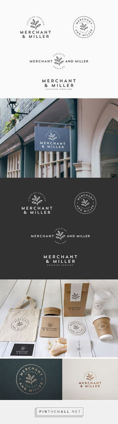Merchant & Miller Logo by Ceren Burcu Turkan | Fivestar Branding Agency – Design and Branding Agency & Curated Inspiration Gallery #logo #logoinspirations