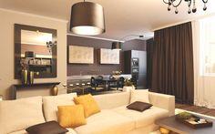 No Glitter, Just Warmth: Gold Shades Apartment by Grosu Art Studio