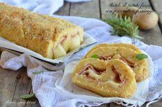 Rotolo di patate farcito con prosciutto e formaggio - Blog di Il caldo sapore del sud Apple Pie, French Toast, Bread, Cooking, Breakfast, Desserts, Recipes, Food, Pies