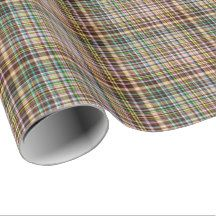 Chocolate Pastels Plaid 27-Gift Wrapping Paper #zazzle #giftwrap #chocolate #pastels #plaid