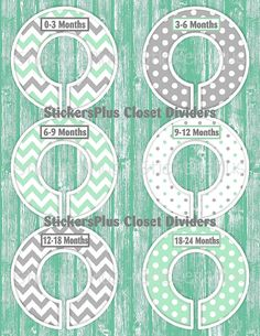 Baby Closet Dividers Organizers Assembled or by StickersPlus
