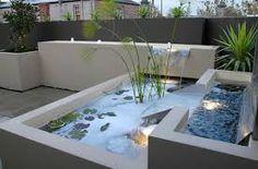 zen dachgarten Exotisches Wasserbecken-Terrasse Gestaltung | house ...