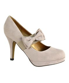 Look at this Mona Mia Nude Mariquita Pump on #zulily today!