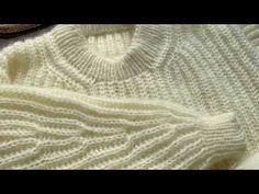 Opsamling til skulder på September Sweater fra Petite Knit Knit Fashion, My Size, Knitting Patterns, September, Videos, Pullover, Stitches, Jumper, Sweaters