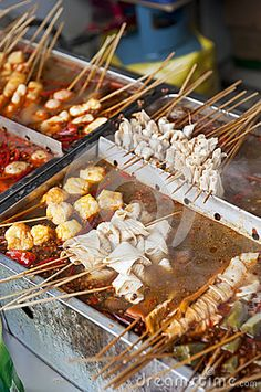 Photo about Chinese street food in Shenyang, China. Image of delicacy, dish, collection - 27848660 Chinese Street Food, Shenyang, China Travel, Taiwan, Touring, Lotus, Goal, Grilling, Oriental