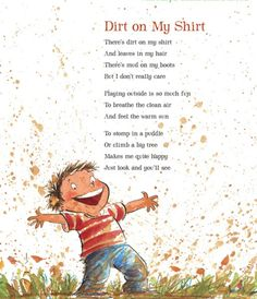 Dirt on my shirt poem
