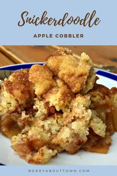 Recipes for Dinner, Dessert, and More Snickerdoodle Apple Cobbler Recipe. Delicious apple filling topped with cinnamon-y sugar cookies. Köstliche Desserts, Delicious Desserts, Dessert Recipes, Yummy Food, Recipes Dinner, Healthy Desserts, Brunch Recipes, Healthy Recipes, Apple Pie Recipes
