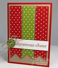 If there's one season where glitters, red and green combination, stars, candy canes and snowflakes are popular- that's no other than our most cherished Christmas season. This wholesome Yuletide days where families are warm& Homemade Christmas Cards, Christmas Cards To Make, Homemade Cards, Christmas Crafts, Christmas Tree, Holiday Cards, Button Christmas Cards, Christmas Banners, Christmas Ideas