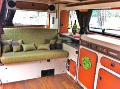 Beautiful custom Vanagon interior