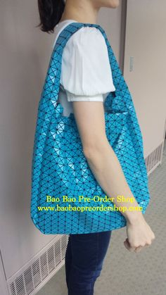 """C Market Bag"" from Bao Bao. Latest model of this year! Color: Sky Blue (with glitter). The bag is very light in weight & extremely roomy. Only 1 left in stock. >>To Order, please message/email via the platform below<<  ♥️FB Inbox:  https://www.facebook.com/messages/baobaohandbags ♥️Email: welovebaobao@gmail.com"