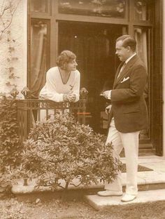King Manuel II and Queen Augusta Viktoria of Portugal at their home in Twickenham, London