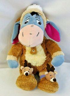 "Disney Winnie The Pooh Reindeer Eeyore Sleeper 12"" Plush Stuffed Animal NWT #Disney"