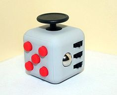 Fidget Cube Relieves Stress And Anxiety for Children and Adults Anxiety Attention Toy (Same Size Gray Red)