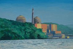 """Indian Point Nuclear Power Plant"" painting"