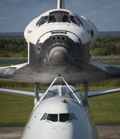Still impressive ~ Space Shuttle Endeavour Departs Florida on Final Ferry Flight - Yahoo! News #spottheshuttle #ov105