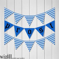 bavarian oktoberfest octoberfest germany deutschland prost triangle banner pennant instant download party decoration celebration beer cheers - Oktoberfest Decorations