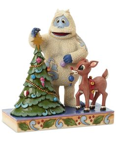 Jim Shore Rudolph & Bumble Decorating Tree Collectible Figurine - Holiday Lane - Macy's $60.00 #Rudolph