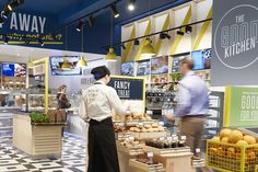 The Good Kitchen's branding is designed to be synonymous with delicious meals eaten right there in-store. With this new sub-branding rolled out across serving elements, digital menus and packaging, the result is a branded food experience with an inviting tone of voice that makes it totally irresistible.