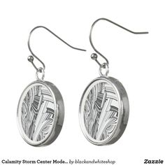 Calamity Storm Center Modern Art Earrings