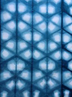 Shibori Triangle Fabric Blue shibori by CapeCodShibori on Etsy