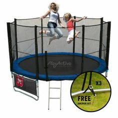 6ft 8ft 10ft 12ft 14ft Trampoline With Enclosure Rain Cover Safety Net Ladder Uk Trampoline Enclosure Best Trampoline Trampoline