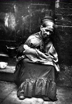 Destitute Woman and Baby, c.1876, London, honestly we don't know we are born these days, this was a very common sight, no welfare then, the street or the workhouse!!
