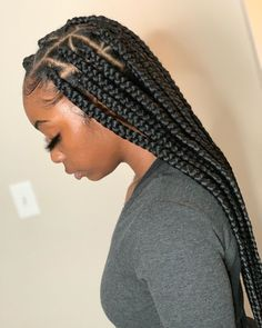 Box Braids Hairstyles For Black Women, Weave Ponytail Hairstyles, Natural Braided Hairstyles, Natural Hair Braids, Baddie Hairstyles, African Braids Hairstyles, Braids For Black Hair, Braided Ponytail, Natural Hair Styles