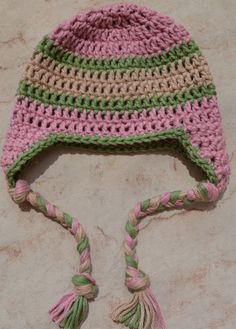 Baby Earflap Hat Made to order in Custom Colors 30 colors available - boy, girl and gender neutral
