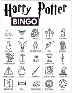 30 Harry Potter themed bingo cards for a Harry Potter themed party or classroom activity. Harry Potter Fiesta, Harry Potter Banner, Harry Potter Party Games, Harry Potter Activities, Harry Potter Classroom, Harry Potter Printables, Harry Potter Birthday, Magia Harry Potter, Cumpleaños Harry Potter