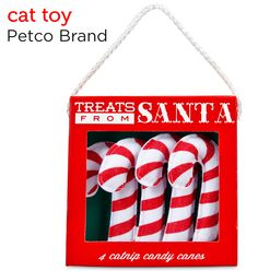 4 catnip candy canes from Petco's Holiday Gift Guide.