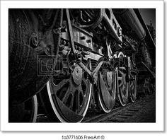 Free art print of Close-Up of Steam Train Wheels