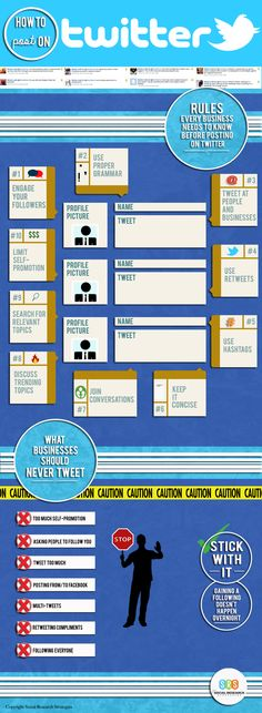 10 rules that every business should follow before they post on #Twitter - #infographic #socialmedia
