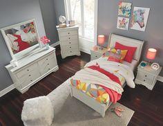 Jorstad Twin Bed with 2 Nightstands, Gray
