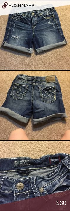 Size 26 sliver shorts NWOT never been worn! Excellent condition! Silver Jeans Shorts Jean Shorts
