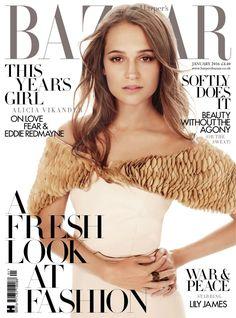Alicia Vikander, Harper's Bazaar Magazine [United Kingdom] (January 2016)